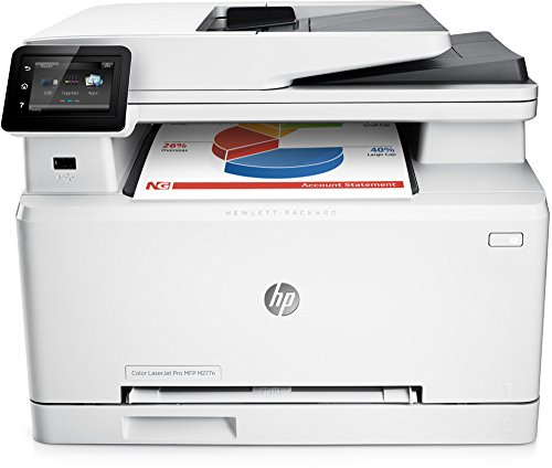 "HP LaserJet Pro M277n Stampante Multifunzione, Display 3"", Touch Screen LCD, 600 x 600 DPI, A4, RAM 256 MB, Grigio"