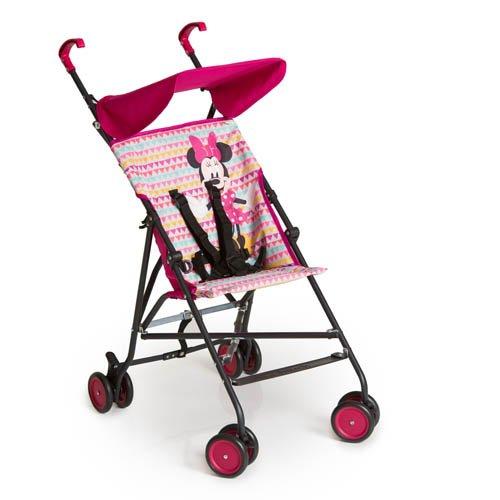 Hauck Sun Plus Disney Buggy, klein zusammenfaltbar, für Kinder ab 6 Monate bis 15 kg, pink (Minnie...