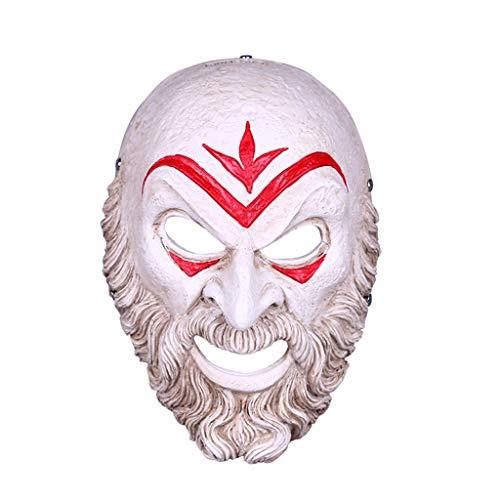Unbekannt Mask- Inverse Lehrer Maske Harz Halloween Kostüm Show Dress Up lustige Requisiten