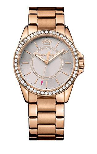 Juicy Couture Laguna-Orologio da donna al quarzo con Display analogico e cinturino in oro rosa 1901410, colore: oro