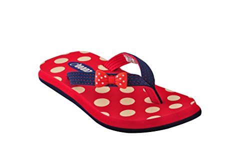 Beanz Pearls Red/Navy Slipper For Girls