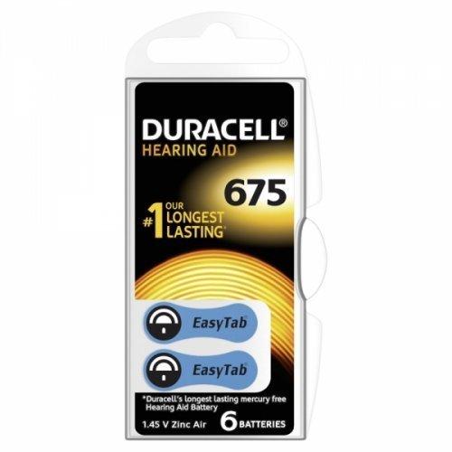 Batería para prótesis auditiva Duracell DA6756unidades bajo blister, 1,4V, Zink-Luft [batería de prótesis auditiva]