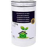 NortemBio Bicarbonate de Soude 1,43 Kg; 2x1,43 Kg; 4x1,43 Kg, Intrant de la Production Biologique, sans Aluminium, Qualité Supérieure, 100% Naturel. Développé en France.