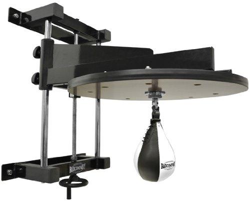 Deluxe Speedball Plattform Set inkl. Drehkugellagerung schwarz und PU Boxbirne medium schwarz/Boxapparat für die Wandmontage BCA-38