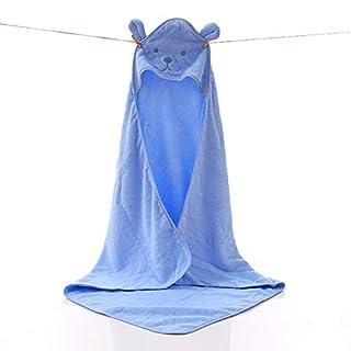 Addfun reg;100% Baumwolle Karikatur Niedlich Hase Baby Mantel Mit Kapuze Handtuch Bad Handtuch 90CM X 90CM(Blau)