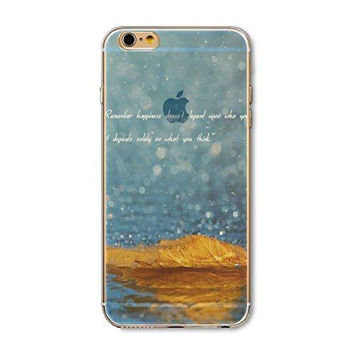 Coque iPhone 6 6s Housse étui-Case Transparent Liquid Crystal en TPU Silicone Clair,Protection Ultra Mince Premium,Coque Prime pour iPhone 6 6s-Paysage-style 1 4