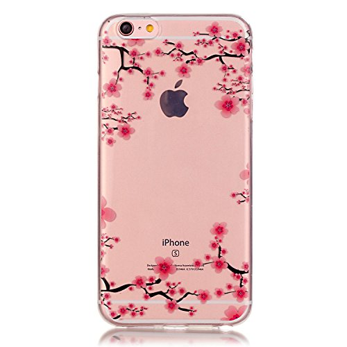 iPhone 6S 6 Hülle Soft Silikon Case durchsichtig transparent extra dünn Clear TPU Schutzhülle (4,7 Zoll) iPhone6 iPhone6s with a Free Screen Protector Iphone 6 Hello Kitty Case Bling