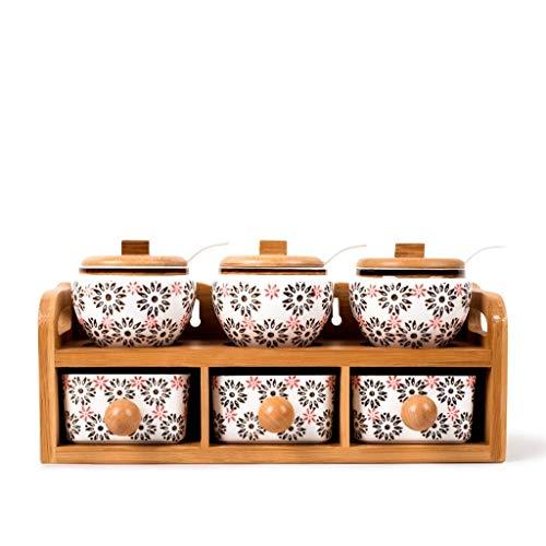 Fournitures de cuisine Assaisonnement for assaisonnement en céramique peinte en...