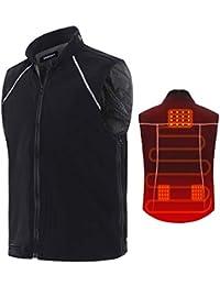 Vinmori Vest Chaleco Térmico Eléctrico para Mujeres y Hombres Tamaño Lavable Carga USB Ajustable Ropa térmica