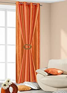 140x245 orange rot ZWEISEITIG Vorhang Vorhänge Gardine Ösenschal orange red 287