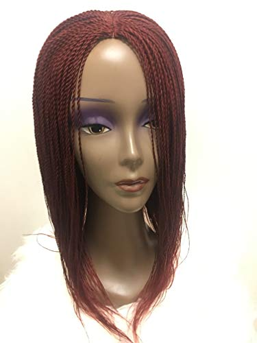 Synthetic Braided Lace Front Wigs African American Twist Braids wigs for Black Women Natural Black Color (18 Inch) (Niedliche Klebeband Halloween-kostüme)