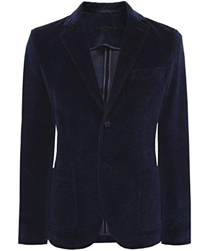 Circolo 1901 Blazer in cotone Velour Blu 50
