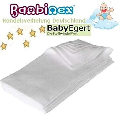 Bambinex ** WASCHBARE Super TROCKEN WindelEinlagen ** SuperDry Mikrofleece-Einlagen/FleeceLiner für einen trockenen BabyPopo (10er Pack)
