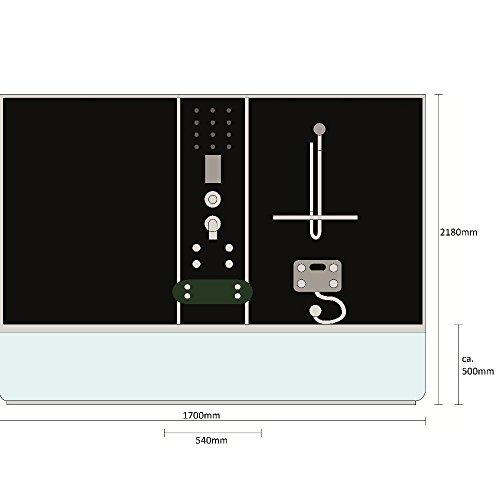 Home Deluxe Diamond schwarz Duschtempel inklusive Whirlpool und Dampfsauna - 7