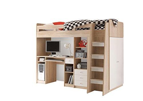 Hochbett Holz Weiß 90x200 : Hochbett weiß eur picclick de