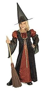 Halloween - Disfraz de Bruja para niña con sombrero, color naranja, infantil 8-10 años (Rubie