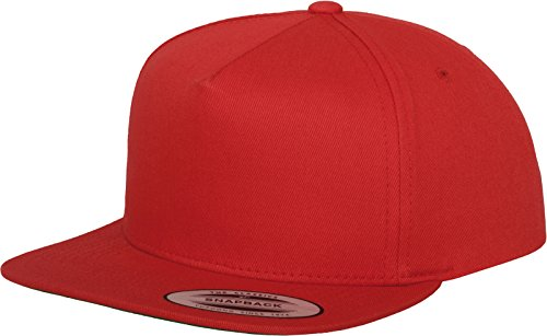 Red 5 Panels (Flexfit Mütze Classic 5 Panel Snapback, red, one size, 6007-00199-0050)