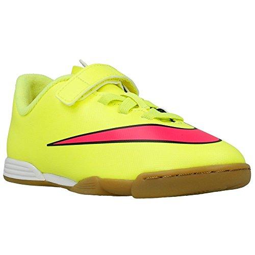 Nike - JR Mercurial Vortex II - 705216760 - Couleur: Rose-Vert clair - Pointure: 28.0