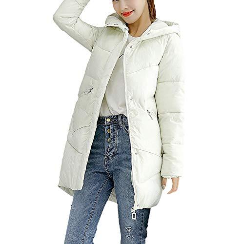(iHENGH Neujahrs Karnevalsaktion Damen Herbst Winter Bequem Lässig Mode Frauen Winter warme Oberbekleidung Kapuzenmantel Baumwolle gefütterte Jacke)