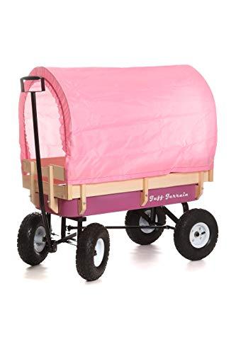 Tuff Terrain rosa Wagen mit Baldachin (Radio Flyer-rosa)