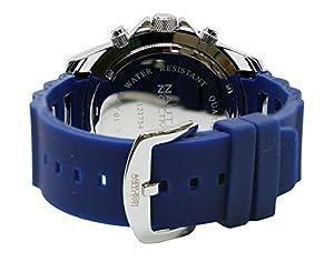 Hombre-reloj Nautec No Limit 2 Glacier caucho cuarzo analógico GLAC2 - QZ-RBBK-BL de Nautec No Limit
