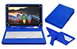 #7: ACM USB Keyboard Case for Lenovo Tb-X103f Tablet Cover Stand with Free Micro USB OTG - Blue