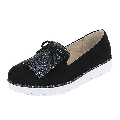 Ital-Design , chaussons d'intérieur femme Noir