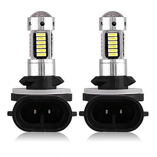 Qiilu 1 Coppia 12V Bianco LED Faro della Nebbia dell'Auto DRL Lampadina della Lampada DC di 881 4014