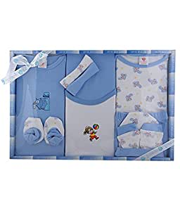 Baby Station Baby Station Gift Set-10 Pcs New Born (Blue)