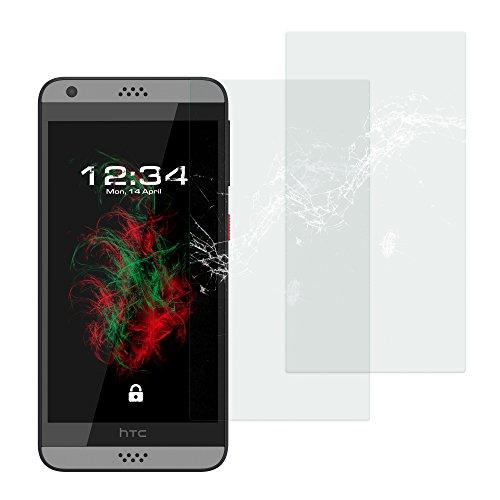 Baluum 2x Glasfolie für HTC Desire 630 Klare Bildschirmschutzfolie 9H Echt Glas-folie Clear Tempered Glass Screen protector Glas Durchsichtige Schutzfolie für HTC Desire 630 (Glasfolie-Klar 2x)