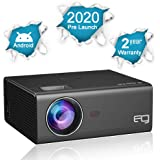 EG Android 6X LED Projector Full HD 1080p Supported , in-Built Wireless Mirroring for Smartphone , USB X 2, HDMI X 2, VGA, AV, Home Theatre ( 2020 Latest Launch )