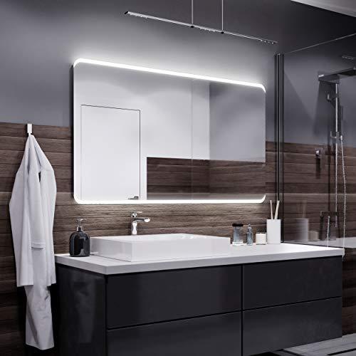 Alasta specchio bosten illuminazione da bagno specchio controluce led | 100x80cm | specchio da parete molte dimensioni | bianco freddo | a++