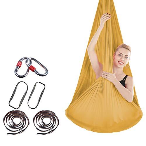 ZKOOO Aerial Yoga Hammock Set Anti gravità Yoga Swing Elastico Yoga Amaca Senza Cuciture Aerial