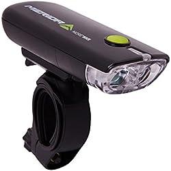 Merida bicicleta iluminación frontal luz 2x Lámpara LED para bicicleta, Negro