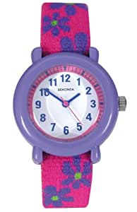 Sekonda Children's Quartz Watch with White Dial Analogue Display and Pink Plastic Strap 4627.05