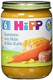 Hipp Karotten mit Mais und Bio-Kalb, 1er Pack (1 x 190g)