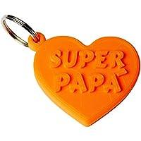 "Portachiavi Cuore ""Super Papà"" in stampa 3D - Idea regalo, festa del papà"
