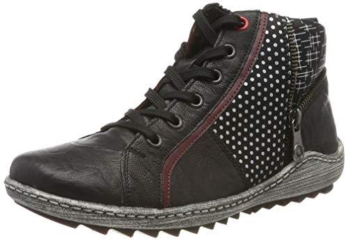 Remonte Damen R1494 Hohe Sneaker, Burgund Steel/Schwarz 02, 41 EU