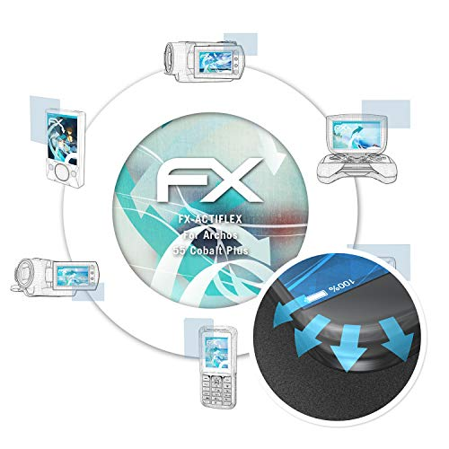 atFolix Schutzfolie passend für Archos 55 Cobalt Plus Folie, ultraklare & Flexible FX Bildschirmschutzfolie (3X)