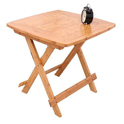 f8c88e482f49e NAN Table d'appoint Pliante Relaxdays, Table Pliante en Bambou, Usage  intérieur et