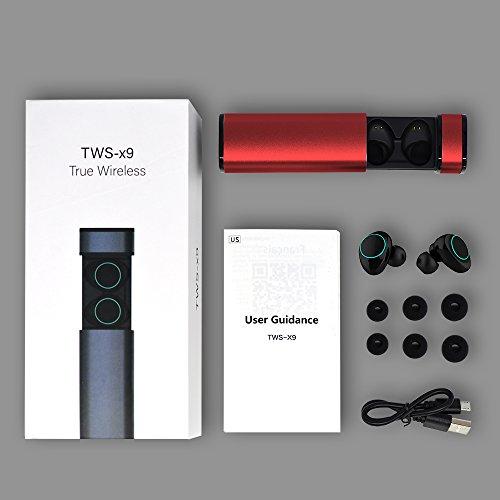 HolyHigh Bluetooth Kopfhörer in Ear Bluetooth Headset Stereo-Minikopfhörer mit Ladekästchen und integriertem Mikrofon für Android und iPhone(Rose rot) - 7