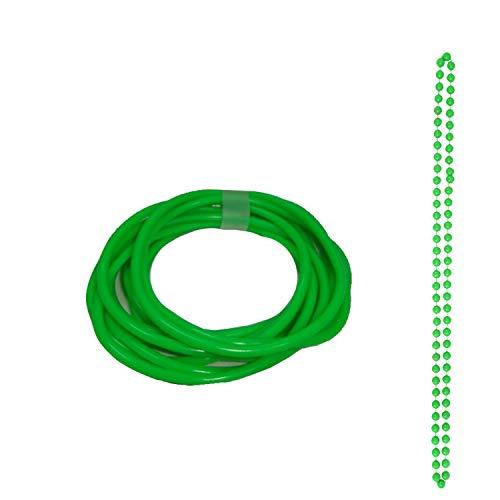 Angies Fashion® Neonfarbene Armreifen & Perlen Halskette 1980er Jahre Kostüm Gr. Einheitsgröße, grün - 1980er-jahre Grün