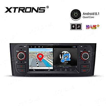 XTRONS-61-Android-Autoradio-mit-Touchscreen-Android-81-Quad-Core-Multimedia-Player-Autostereo-4G-WiFi-Full-RCA-Ausgang-Bluetooth50-Lenkradfernbedienung-16GB-ROM-DAB-OBD2-FR-FIAT