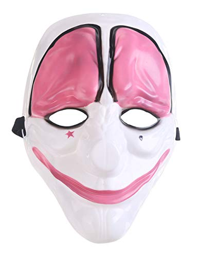 Geheimnis Halloween, Cosplay Horror Adult Party Kostüm Ghost Monster Theme Clown Maske,Redhead