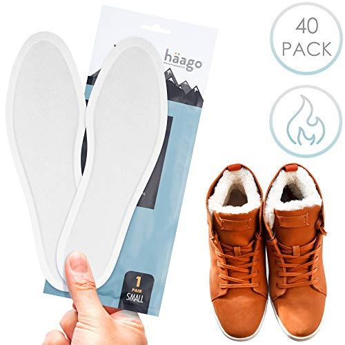 40 paia scalda solette riciclabili, scaldapiedi - scalda-suole - qualità premium, calore istantaneo, naturale al 100%, attivato dall'aria - fino a 10 ore di calore - adatto a tutti i tipi di scarpe.