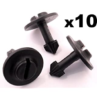 10x Plastic clips - Used for wheel arch, engine covers, undertrays and splashguards