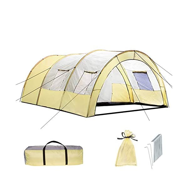TecTake 800588 XXL Camping Tunnel Tent with Foyer 4-6 persons 1