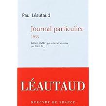 Journal particulier 1933