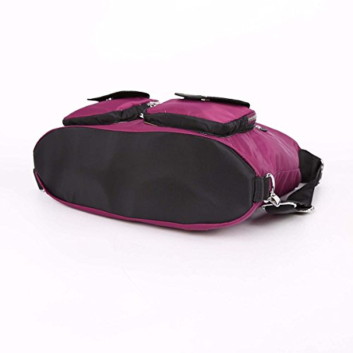 Angelkiss 3 utilizzo multi tasche borse sacchetti di spalla di nylon tessuto Zaino TP670 Viola