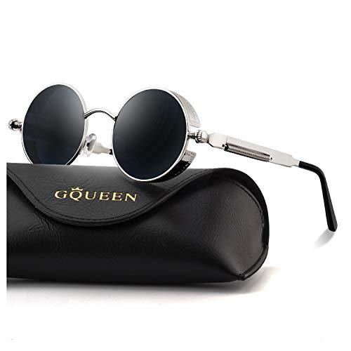 GQUEEN Retro Runde Steampunk Polarisierte Sonnenbrille MTS2 - Amazon Angebote